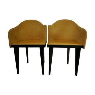 Yellow Saporiti Italia Chairs - A Pair