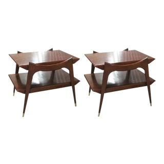 Finn Juhl Style Mid-Century Modern Walnut Tables