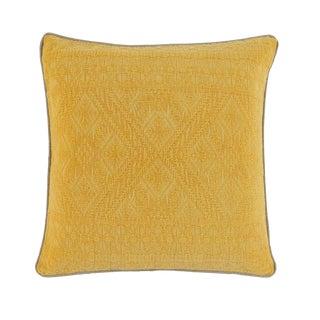 Mustard Yellow Brocade Pillow