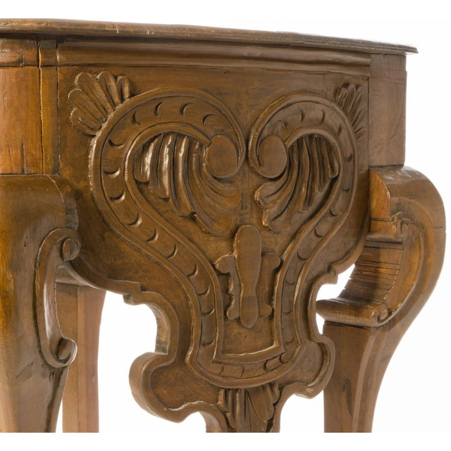Antique 18th Century Carved Wooden Console Table - Image 4 of 5