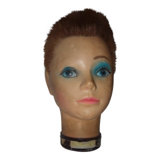 French Beauty School Mannequin Head
