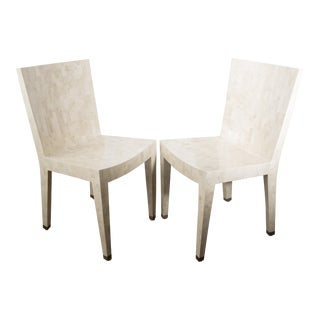 Karl Springer Fossilized Coral JMF Chairs