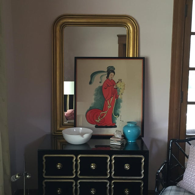 Vintage Large Asian Painting - Image 3 of 4