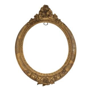 Antique Giltwood Oval Frame