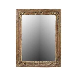 Old Teak Window Mirror