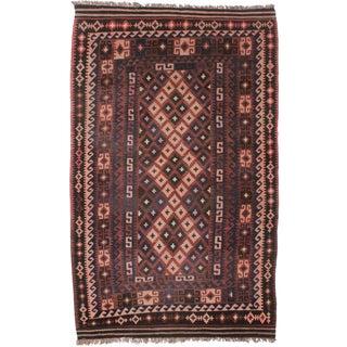 Vintage Afghan Wool Kilim Rug - 6' x 9'