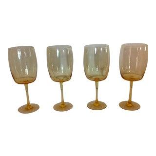 Mid-Century Amber Glasses - Set of 4