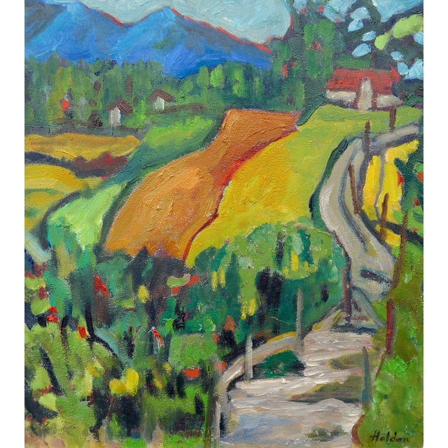 Swiss Farm in Summer Plein Air Painting - Image 1 of 6