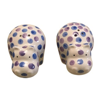 Hippo Salt & Pepper Shakers - A Pair