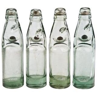 Vintage Street Vendor Soda Bottles - Set of 4