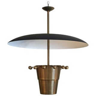 Over-sized Brass Domed Hanging Light