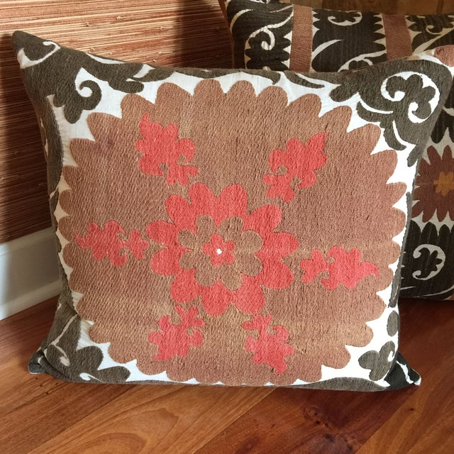 Vintage Gulkurpa Suzani Floor Pillow Chairish