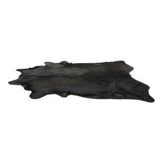 Genuine Brazilian Cowhide, Black - 6′6″ × 7′6″