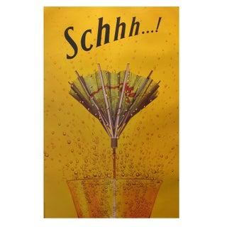 Original Vintage Advertising Poster, Schhh...!
