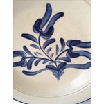 Image of Cobalt Graphic Pottery Plate