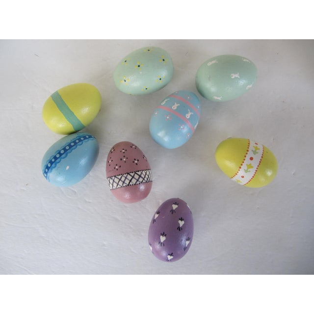 Hand Painted Wood Easter Eggs - Set of 8 - Image 5 of 5