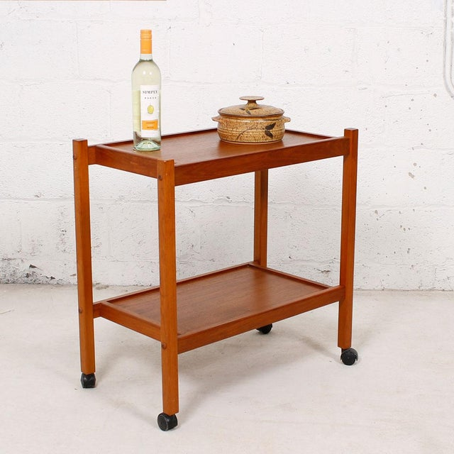 Compact Teak Bar/Serving Cart - Image 6 of 7
