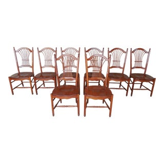 Tom Seely Cherry Wheat Back Chairs - Set of 8