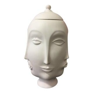 Multi Face Cookie Jar/Vase