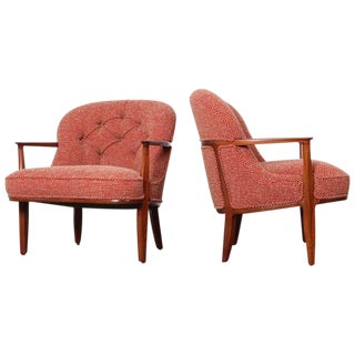 Pair of Dunbar Janus Lounge Chairs