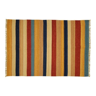 """Navajo Striped Kilim Rug - 4'7"""" x 6'7"""""""