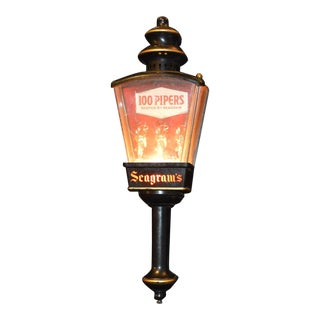 Vintage Advertising 'Seagrams' Wall Lamp