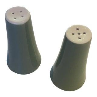 Blue Heaven Green Ceramic Salt & Pepper Shakers