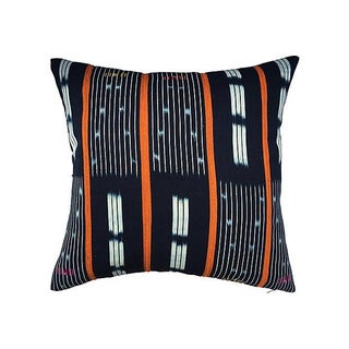 African Indigo Tribal Pillow III