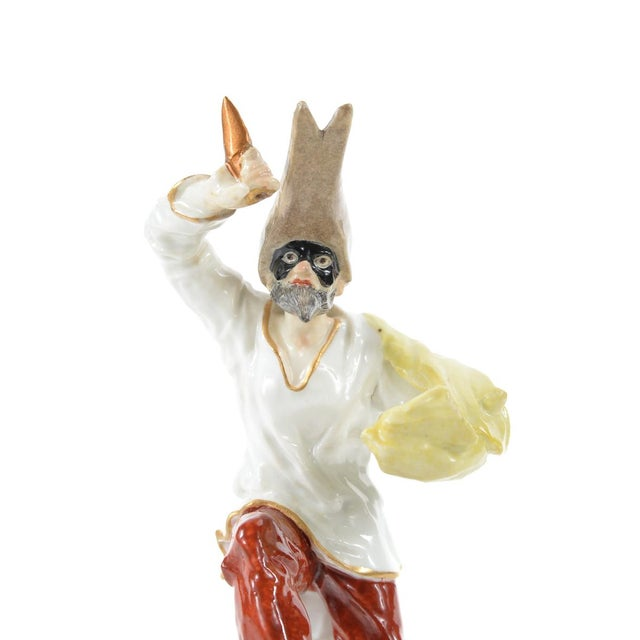 German Porcelain Commedia Dell'Arte Figurine - Image 9 of 9
