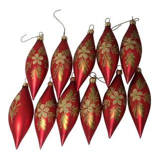 Vintage German Christmas Ornaments - Set of 11
