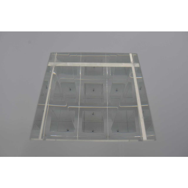 Unique Signed Lucite and White Lacquer Desk or Table - Image 7 of 10