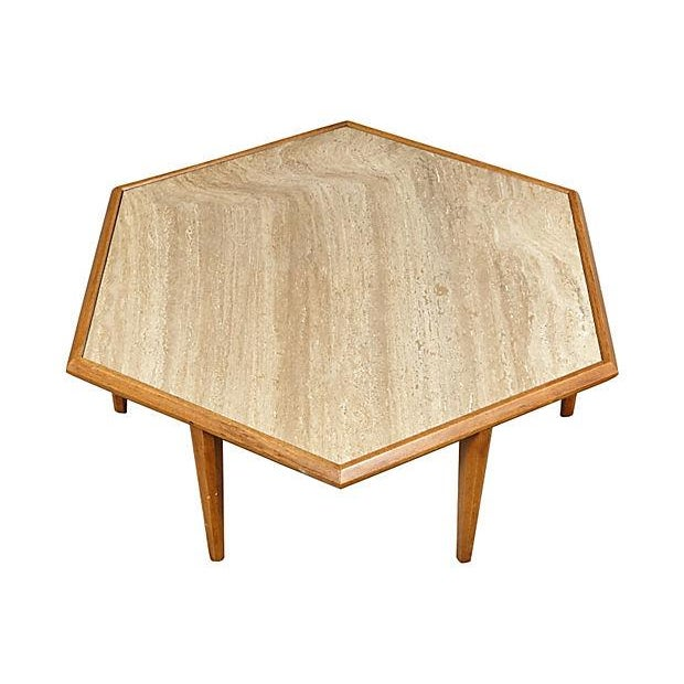 Image of Vintage 1960s Drexel 6-Sided Marble Coffee Table