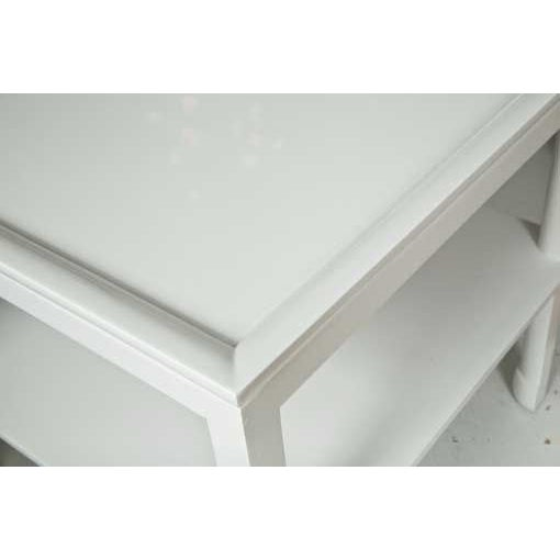 Image of Mid-Century Table in White Lacquer