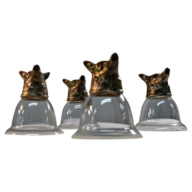 Wolf Head Stirrup Goblets - Set of 5 - Image 1 of 10