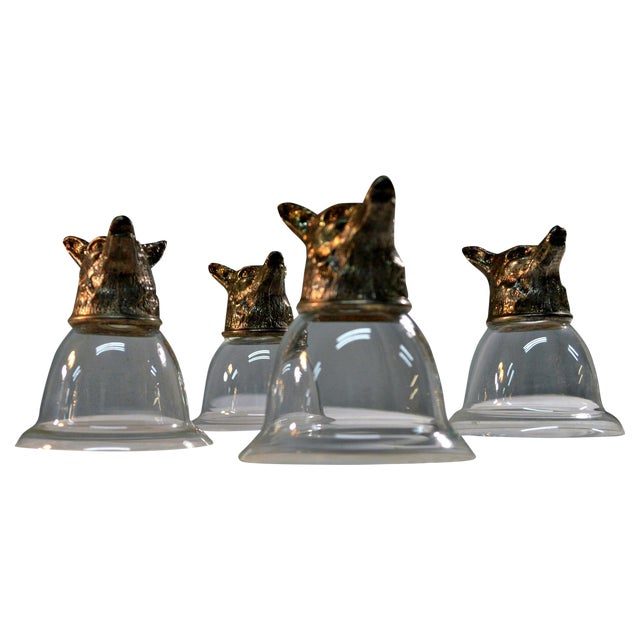 Image of Wolf Head Stirrup Goblets - Set of 5