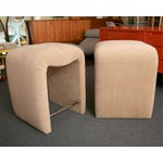 Image of Luxe Modern Faux Ostrich Upholstered Stools