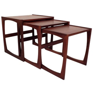 Mid-Century Danish Teak Nesting Tables - Set of 3