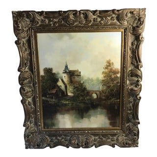 "Eleanore Guinthier ""Castle In The Woods"" Framed Landscape Oil Painting"