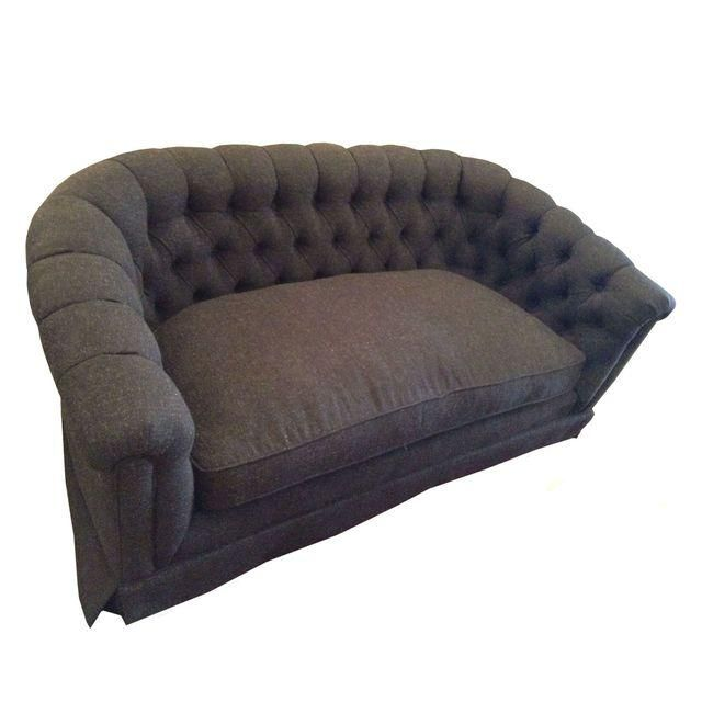 Settee Sofa in Linen Charcoal Blend - Image 1 of 3