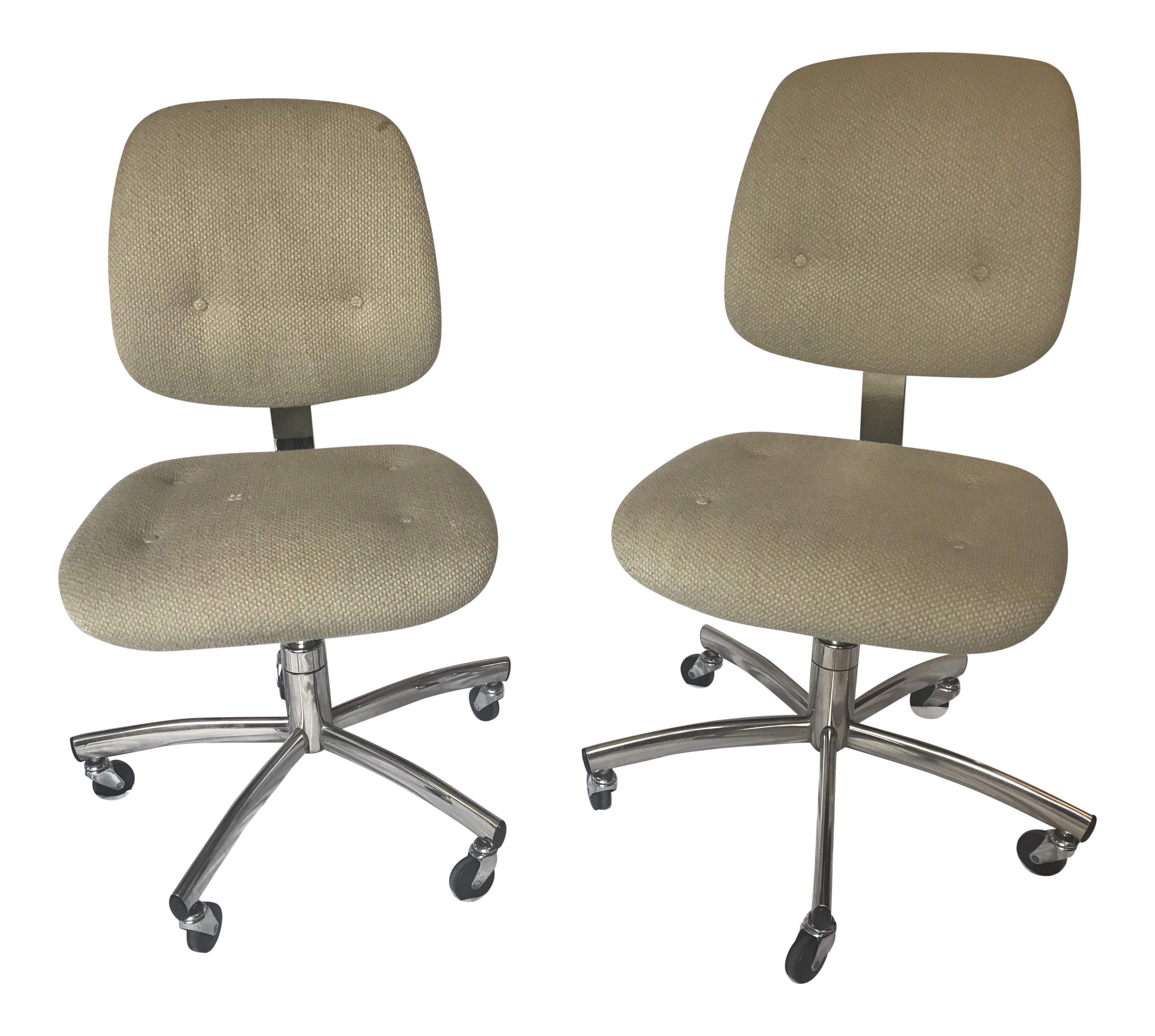 vintage office chair. vintage steelcase trilogy 421 chairs a pair office chair