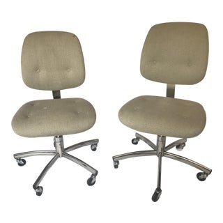 Vintage Steelcase Trilogy 421 Chairs - A Pair
