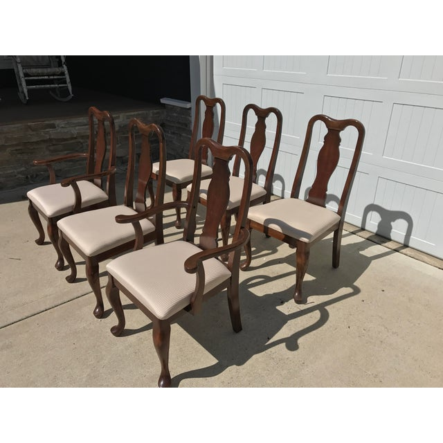 queen anne style dining room set chairish