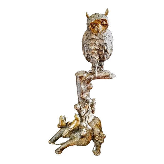 Image of Brass Owl Figureine