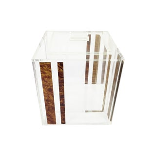 1970's Clear Lucite Ice Bucket