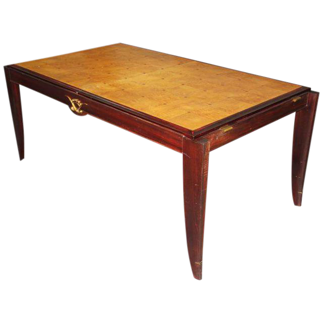 French Art Deco SycamoreMahogany Dining Table Circa 1940s  : french art deco sycamoremahogany dining table circa 1940s 9852aspectfitampwidth640ampheight640 from www.chairish.com size 640 x 640 jpeg 25kB