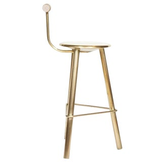 Customizable Erickson Aesthetics Brass Stool