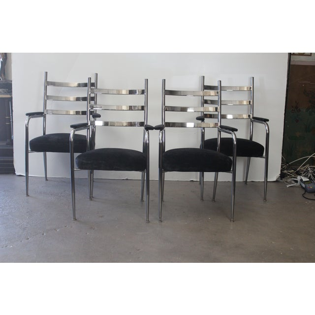 Chrome Dining Chair Set - Set of 4 - Image 2 of 5