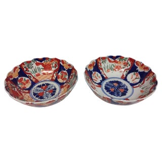 Antique Japanese Imari Bowls - Pair