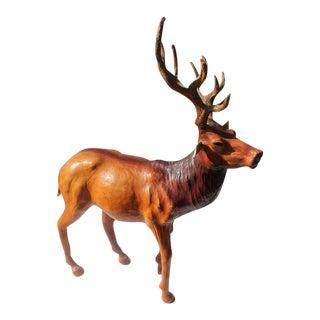 Monumental Folky Handmade Leather Elk