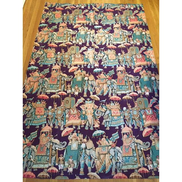 Vintage India Elephant Festival Fabric - 2 Panels - Image 3 of 6